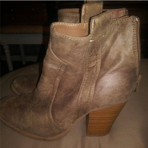 Tan Ankle Booties - by JustFab